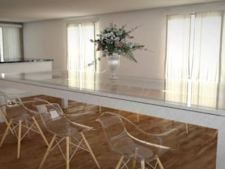FyA Arquitectos Modern dining room Glass Transparent