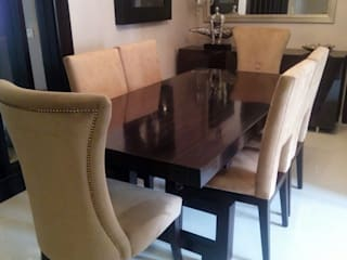 THE MAJESTIC ABODE-NOIDA FOYER INTERIORS Dining roomTables