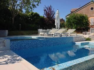 Swimming pool with view Giardino moderno di GAAP Studio Giorgio Asciutti Architetto Paesaggista Moderno