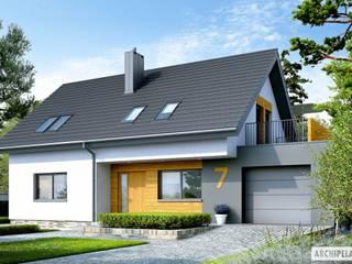 PROJEKT DOMU LOGAN G1 : styl , w kategorii Domy zaprojektowany przez Pracownia Projektowa ARCHIPELAG,Nowoczesny