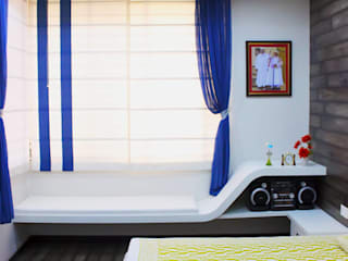 Asian style bedroom by Shadab Anwari & Associates. Asian
