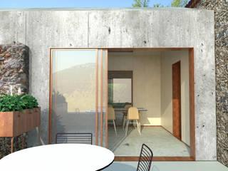 Projekty, minimalistyczne Domy zaprojektowane przez Belle Ville Atelier d'Architecture