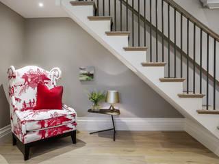 Winchester Modern corridor, hallway & stairs by Studio Hooton Modern