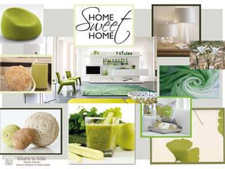 Vivere lo Stile Livings de estilo moderno Verde