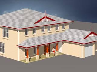 Inwentaryzacja budynku mieszkalnego jednorodzinnego w stylu Old Colonial - Bella Vista, NSW Australia.: styl , w kategorii  zaprojektowany przez Architekt Marek Majewski