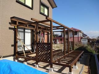 屋根を付けたウッドデッキを作ろう! の 阿部建設