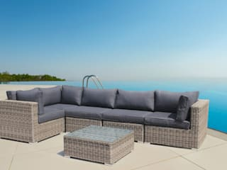 LuxuryGarden® Salotto Angolare in rattan Andresa:  in stile  di LuxuryGarden.it