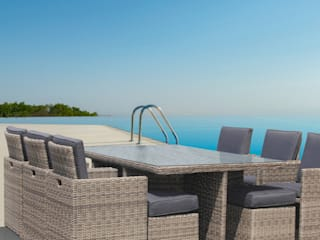 LuxuryGarden® Tavolo in rattan 10 posti Andresa:  in stile  di LuxuryGarden.it