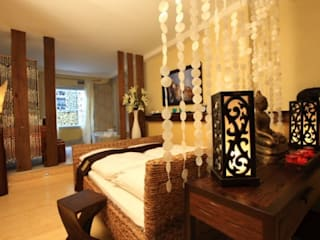Feng Shui Lounge im Loccumer Hof, Hannover, Details:  Wohnzimmer von sam nok GmbH