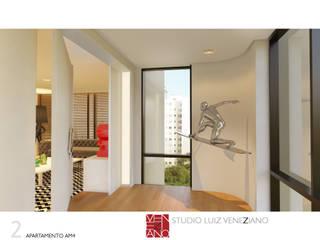 APARTAMENTO AM4 Portas e janelas modernas por STUDIO LUIZ VENEZIANO Moderno