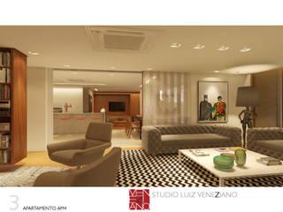 APARTAMENTO AM4 Salas de estar modernas por STUDIO LUIZ VENEZIANO Moderno