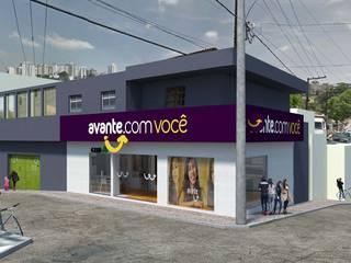 Loja. Avante Lojas & Imóveis comerciais modernos por PAINEL ARQUITETOS ASSOCIADOS Moderno