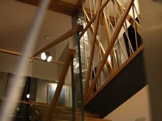 Projekt domu Zbrosławice Minimalistyczny korytarz, przedpokój i schody od Art-Deko Pracownia Projektowa Minimalistyczny
