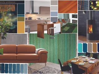 planche ambiance décoration et aménagement pièce à vivre Frontonas: Cuisine de style  par D-Exception