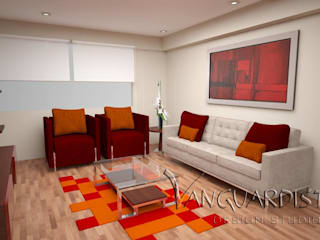 Diseño de Departamento San Borja Modern living room by Vanguardist Design Studio Modern