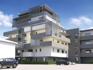 edificio residenziale bologna Fabio 3d Spazi commerciali moderni