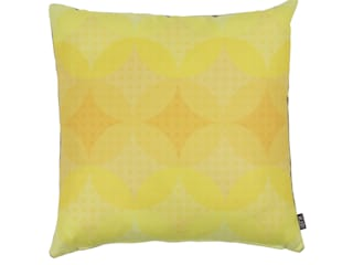 Woonkussen Graphi Circles geel:   door NL31