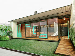 juan olea arquitecto Rustic style dining room