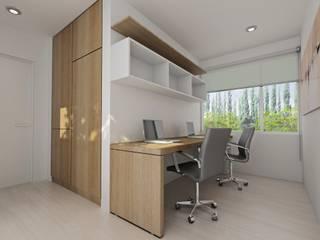 Estudios y despachos de estilo moderno de Chazarreta-Tohus-Almendra Moderno