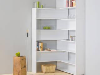 Eckhardt, das modulare Eckregal vom Spezialisten für Eck-Möbel noook.de:  Wohnzimmer von noook