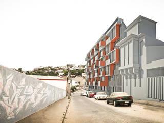 Edificio residencial Parque el Litre: Casas de estilo  por Materia prima arquitectos