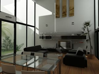 Salas de estilo minimalista de JAPAZ arquitectura arte diseño Minimalista