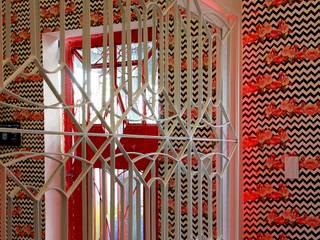 Couloir, entrée, escaliers industriels par Dotta Studio Industriel