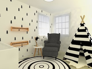 Quarto a preto e branco por This Little Room