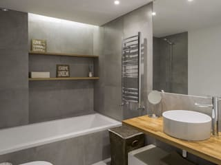 GESTION INTEGRAL DE PROYECTOS DEL NOROESTE S.L. Modern style bathrooms