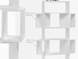 Box Kitaplık Beyaz K105 Mobilya Pazarlama Danışmanlık San.İç ve Dış Tic.LTD.ŞTİ. Çalışma OdasıDolap & Raflar Sunta Beyaz