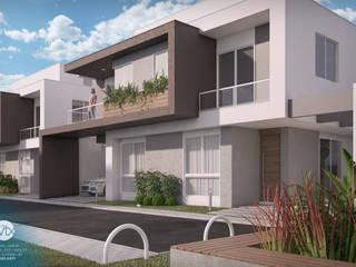 Vista frontal - rua interna: Casas  por studio vtx