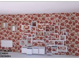 Bibliothèque sur-mesure (projet) par Atelier Créa' Design Moderne