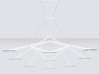 Lamparas EVALUZ Josep Lluis Lai EstudioIluminación Aluminio/Cinc Metálico/Plateado