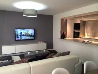 CSInterieur Salones de estilo moderno Hormigón Blanco