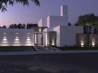 Vivienda familiar Casas modernas: Ideas, imágenes y decoración de Arquitecta María Pía Cadelago Moderno