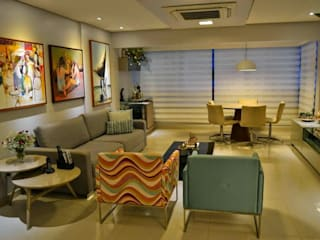 APTO 140M² BOA VIAGEM Salas de estar clássicas por DIÂMETRO INTERIOR DESIGN Clássico