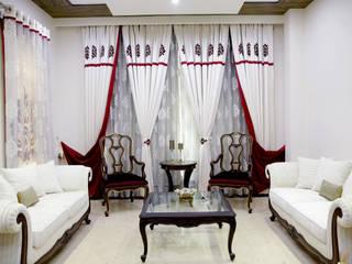 Formal Living Room: colonial  by renu soni interior design,Colonial