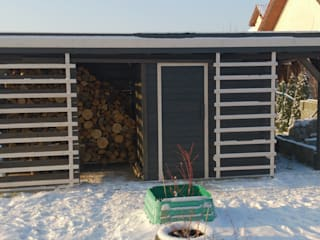 Drewutnia drewniana: styl , w kategorii  zaprojektowany przez Wood Art Stolarstwo