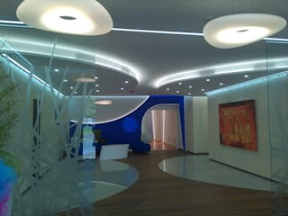 Espaces de bureaux modernes par Architetto Andrea Madonna Moderne