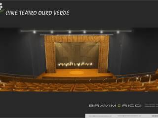 TEATRO OURO VERDE : Locais de eventos  por BRAVIM ◘ RICCI ARQUITETURA