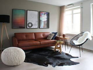 Appartement Amsterdam:  Woonkamer door By Lenny,
