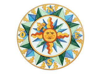 CEAR Ceramiche Azzaro & Romano Srl Piscinas de estilo mediterráneo Piedra Multicolor