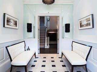 Restored Georgian splendour with modern indulgences:  Corridor & hallway by The Design Practice by UBER