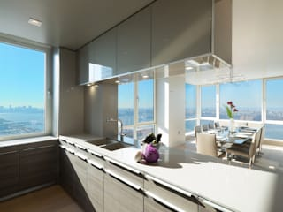 Luxury Apartment Combination Minimalist kitchen by Andrew Mikhael Architect Minimalist
