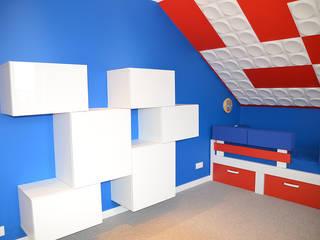 Pokój LEGO 1: styl , w kategorii Pokój dziecięcy zaprojektowany przez szlabowicz.pl