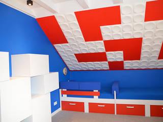 Pokój LEGO 2: styl , w kategorii Pokój dziecięcy zaprojektowany przez szlabowicz.pl
