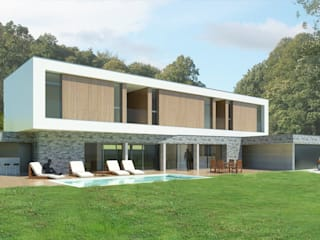 Melting Pot: Maisons de style de style Moderne par 3B Architecture