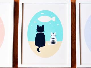 Cat Wishes por Cloudswishes Minimalista