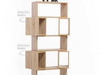 K105 Mobilya Pazarlama Danışmanlık San.İç ve Dış Tic.LTD.ŞTİ. EstudioArmarios y estanterías Tableros de virutas orientadas Acabado en madera