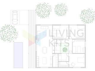 modern  door Casas Modernas | LIVING KITS, Modern